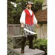 Black & White Stripe Pirate Pants